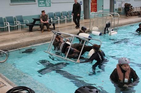 Underwater egress survival training