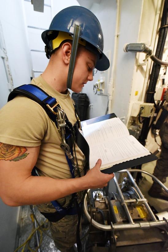373rd TRS Det. 22 missile maintenance training
