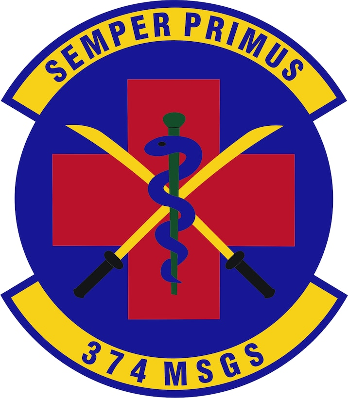 Emblem- 374th Medical Surgical Operations Squadron (374 MSGS)