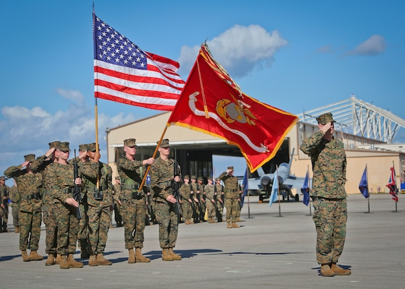 Marine All-Weather Fighter Attack Squadron-224 underwent a change of command aboard Marine Corps Air Station Beaufort, Feb. 23.