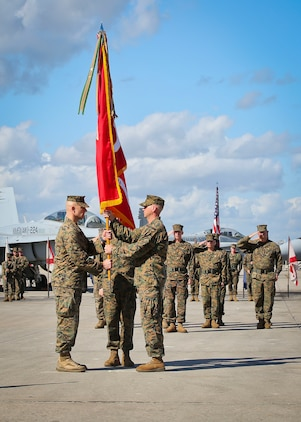 Marine All-Weather Fighter Attack Squadron- 224 underwent a change of command ceremony aboard Marine Corps Air Station Beaufort, Feb. 23.