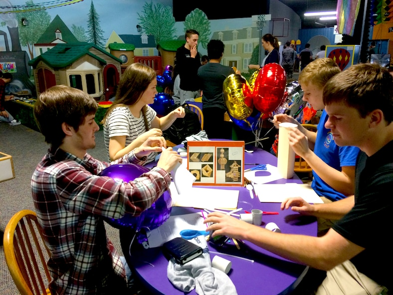 High school students design vehicles during the Arnold Air Force Base Student Design Competition Feb. 20 at the Hands-on Science Center. The SDC is an event that the HOSC supports in partnership with Arnold AFB and other local engineering societies and businesses. (Courtesy photo)