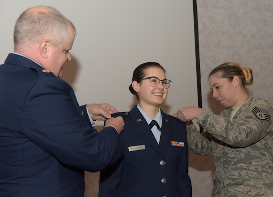 Airman commissions, begins journey to become a doctor