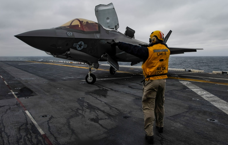 VFMFA-121, assigned under the Okinawa-based 31st Marine Expeditionary Unit, will remain embarked aboard Wasp for a regional patrol meant to strengthen regional alliances, provide rapid-response capability, and advance the Up-Gunned ESG concept