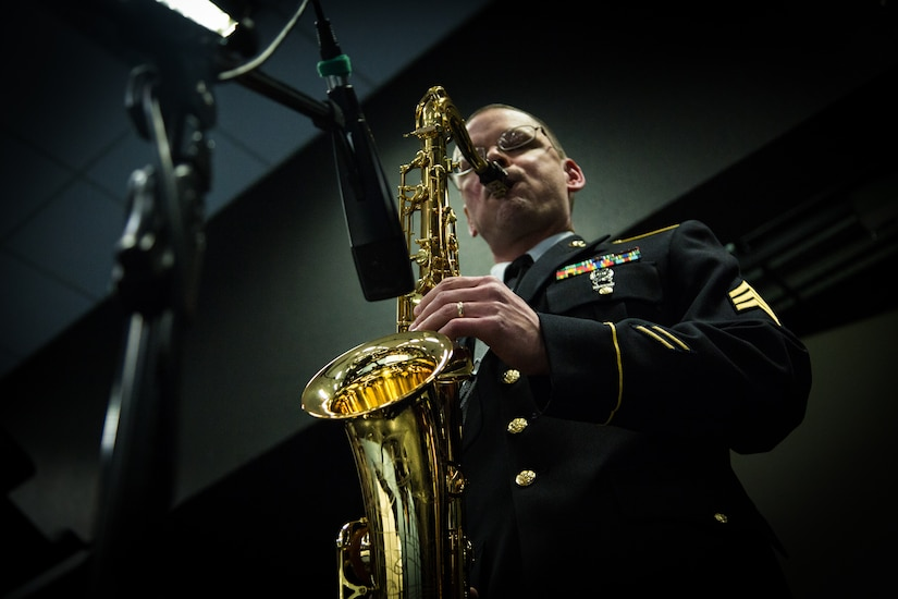 SGT James Guffey Plays Saxophone