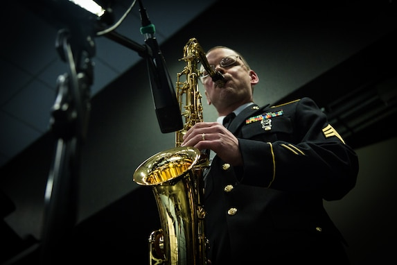 SGT James Guffey Plays Saxophone