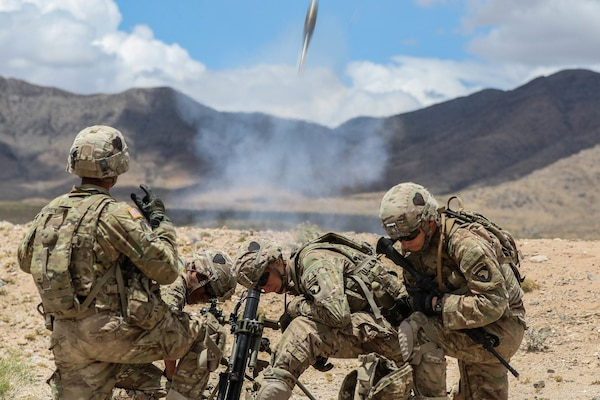 Mortar men with 1st Battalion, 26th Infantry Regiment, 2nd Brigade Combat Team, 101st Airborne Division, from Fort Campbell, Kentucky, conduct live fire exercise during Network Integration Evaluation 17.2, July 14, Dona Ana Range Complex, N.M. The Army aims to match Soldiers with the best MOS in order to best benefit the individual Soldier and optimize total readiness.