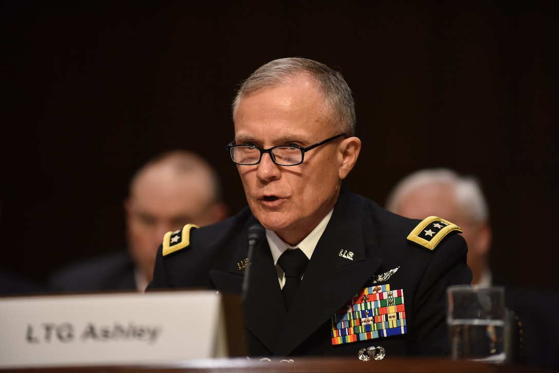 DIA Director Lt. Gen. Robert Ashley testifies before the  Senate Armed Services Committee