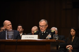 Defense Intelligence Agency Director Army Lt. Gen. Robert Ashley Jr., testify before the Senate Armed Services Committee on threats to national security.
