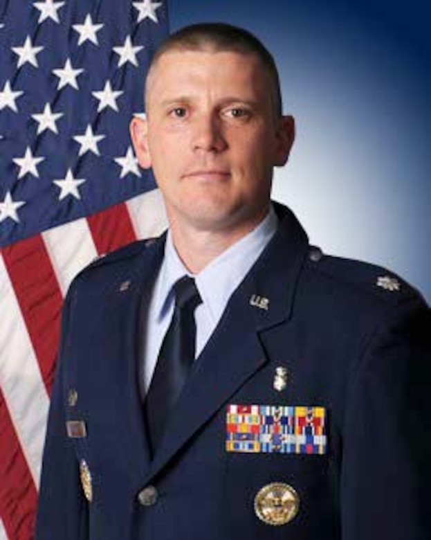 Lt. Col. Cory Baker, official photo, U.S. Air Force