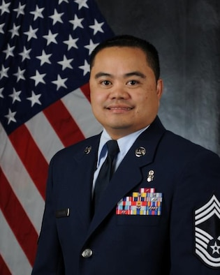 Chief Master Sgt. Nathaniel Sugatan, official photo, U.S. Air Force