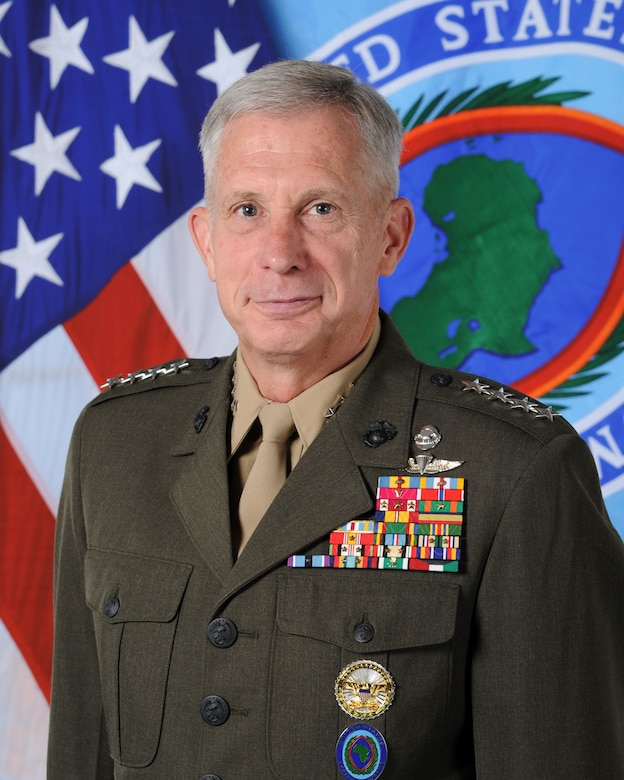 Marine Corps Gen. Thomas D. Waldhauser, commander of U.S. Africa Command, testified before the House Armed Services Committee on national security challenges and U.S. military activities in Africa, March 6, 2018.