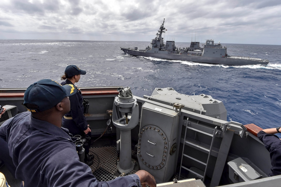US Navy, JMSDF Participate in MultiSail 2018