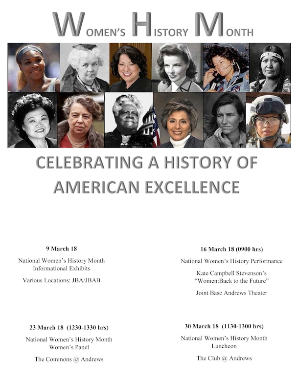 Joint Base Andrews Women's History Month flyer
