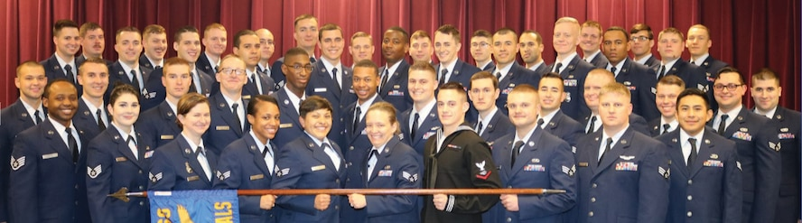 Airman Leadership School Class 18-B graduates. (Courtesy photo)