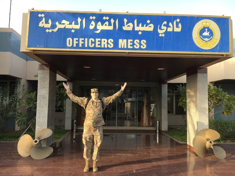 COL Martin Jung following his promotion ceremony, held 6 March 2018 at the Kuwait Naval Base at the Kuwait Navy Officer's Club.