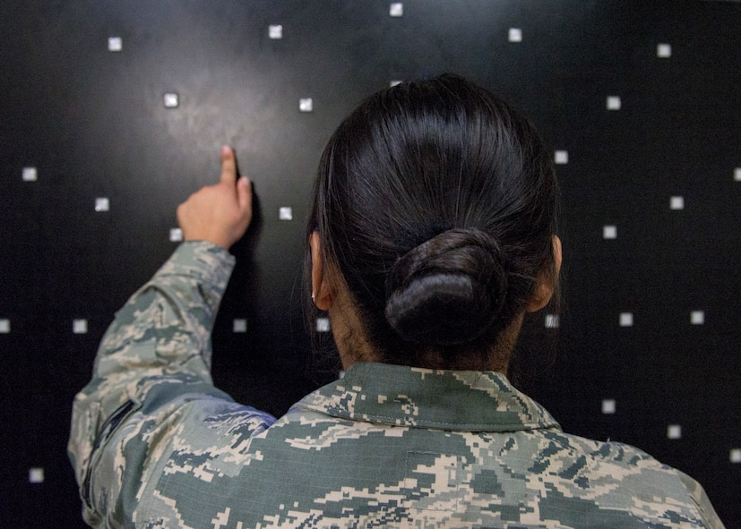 A patient participates in occupational rehabilitation offered through the Traumatic Brain Injury clinic at Joint Base Elmendorf-Richardson, Alaska, Feb. 26, 2018. The JBER hospital TBI clinic offers traditional medical therapies such as medication management, occupational therapy, speech therapy and psychotherapy.