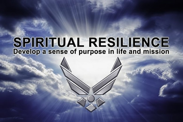 PETERSON AIR FORCE BASE, Colo. – Spirituality, which is one of four pillars of the Comprehensive Airmen Fitness, is an Airmen's set of beliefs, principles and values. The spiritual pillar can help Airmen who are struggling through difficult times; it can give them a sense of purpose and well-being. (Courtesy graphic)