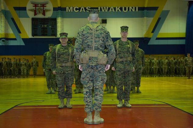 Sgt. Maj. Ortega bids MAG-12 farewell, Sgt. Maj. Johnson takes charge