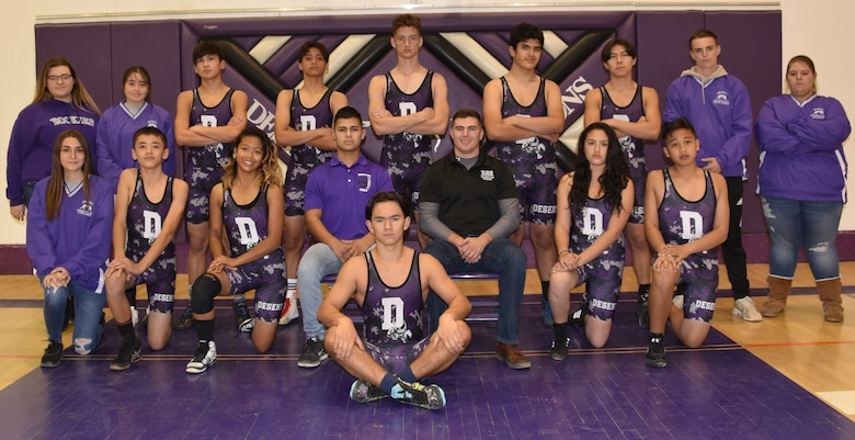 The Desert High School wrestling team. (Courtesy photo)