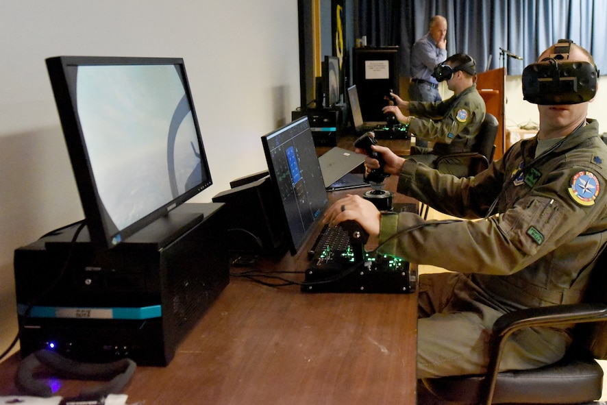 Mixed reality simulator at 80th FTW