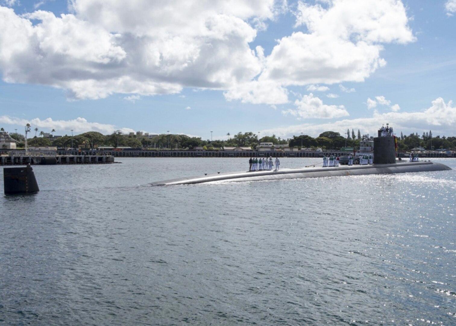 USS Tucson Returns to Pearl Harbor