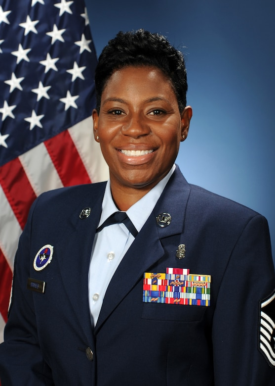 Master Sgt. Melissa Bridges, the Air Force Independent Duty Medical Technician (IDMT) consultant at Fort Sam Houston, Texas, is the first female IDMT Air Force consultant and consistently recognizes how women play a vital role in the Air Force. (U.S. Air Force photo)