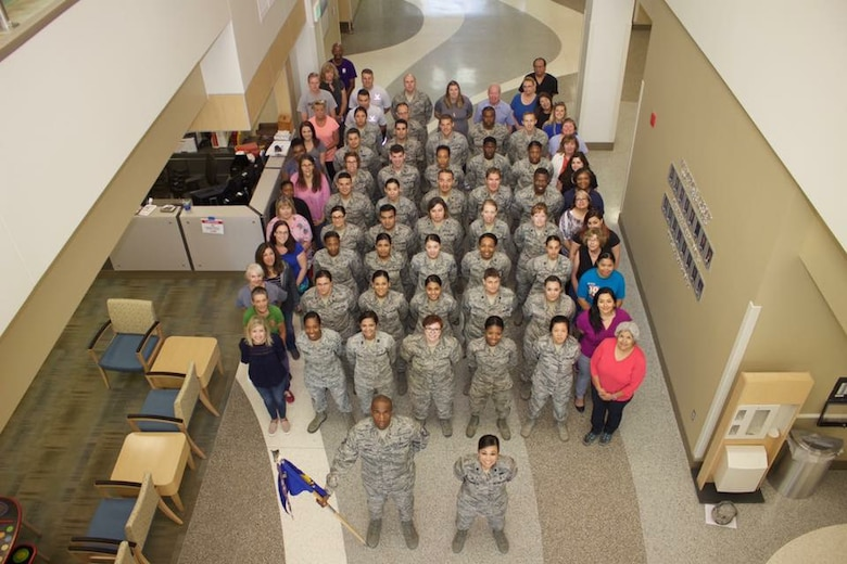 Lt. Col. Bonnie Stevenson (bottom right) is the 49th Medical Operations Squadron commander at Holloman Air Force Base, N.M. Stevenson uses International Women's Day as a day to recognize the ways female leadership in the AFMS has impacted her medical and Air Force career. (Courtesy photo)