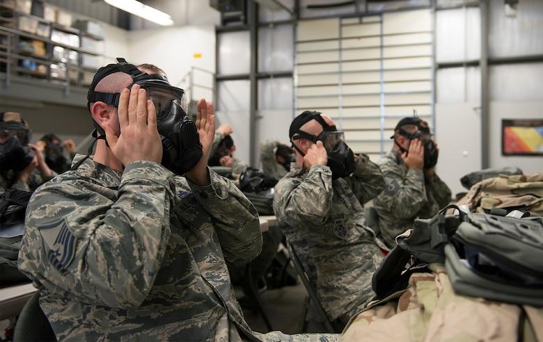 CBRN training at Whiteman Air Force Base, Missouri.