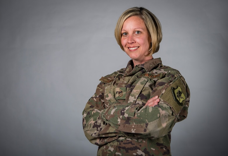Master Sgt. Stephanie Ruepp, 38th Rescue Squadron unit training manager and resource advisor, poses for a photo March 8, 2018, at Moody Air Force Base, Ga. Ruepp has recently been announced as the Georgia representative for the Elizabeth Dole Foundation Military and Veteran caregiver fellows program. As a fellow, Ruepp will help caregivers provide anything to improve the quality of life for their loved one; from wheelchair accessible vehicles and home modifications to finding nearby support groups and treatment facilities. (U.S. Air Force photo by Senior Airman Janiqua P. Robinson)