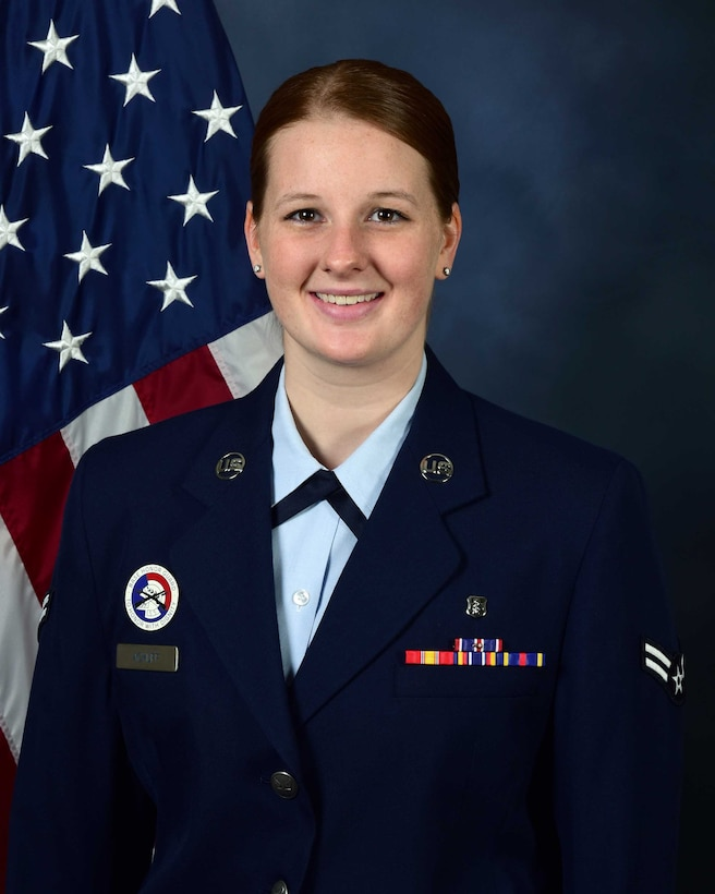 Senior Airman Gabrielle Achuff, the Aerospace and Operational Physiology technician, won the Air Force level 2017 AOP Airman of the Year, on Columbus Air Force Base, Mississippi. Her hard work has earned her a number of awards, at all kinds of levels within the Air Force, notably earning Airman of the Year at the 14th Flying Training Wing in January. (Courtesy photo)