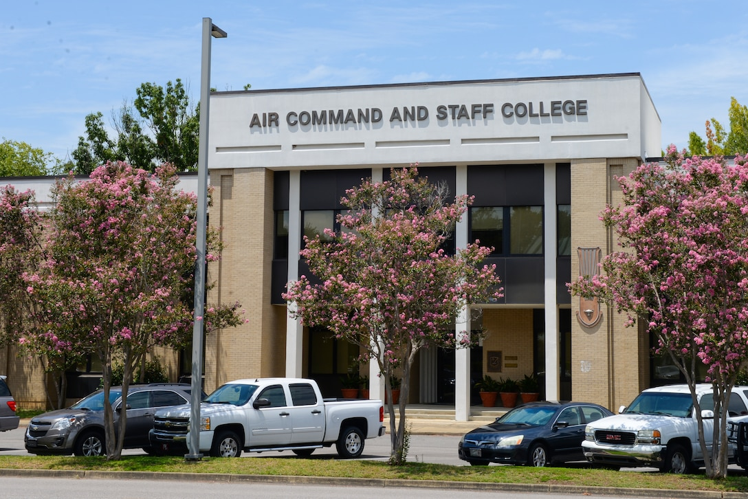 Air University's Air Command and Staff College located at Maxwell Air Force Base, Alabama. The ACSC prepares about 500 resident and over 9,000 nonresident students from all US military services, federal agencies, and 65 partner nations to lead in the operational environment. (U.S. Air Force photo by Senior Airman Tammie Ramsouer)