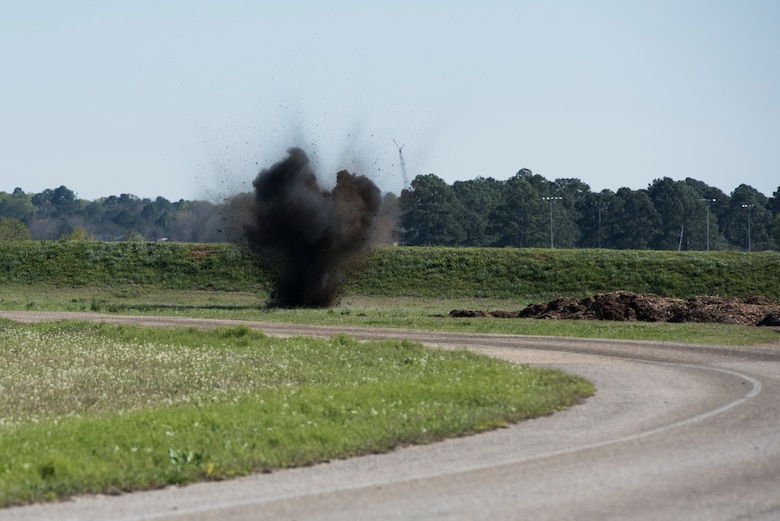 Tyndall EOD unit detonates expired munitions on Maxwell