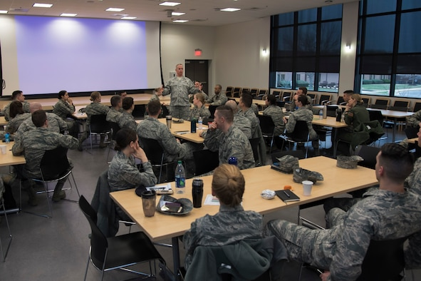 Lt. Col. Conmy talks to CGOs