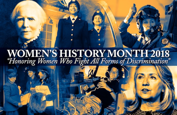 2018 Women's History Month (U.S. Air Force graphic by Kent Bingham)