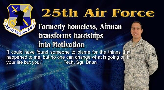 Formerly Homeless, Airman transform hardship in Motivation