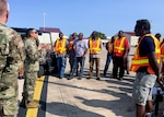 DLA Distribution Commander Army Brig. Gen. John S. Laskodi addresses the DDXX team at ISB Joint Base San Antonio-Randolph, Texas, after visiting DLA Distribution Corpus Christi, Texas, and other DLA personnel supporting relief after the catastrophic damage caused by Hurricane Harvey.