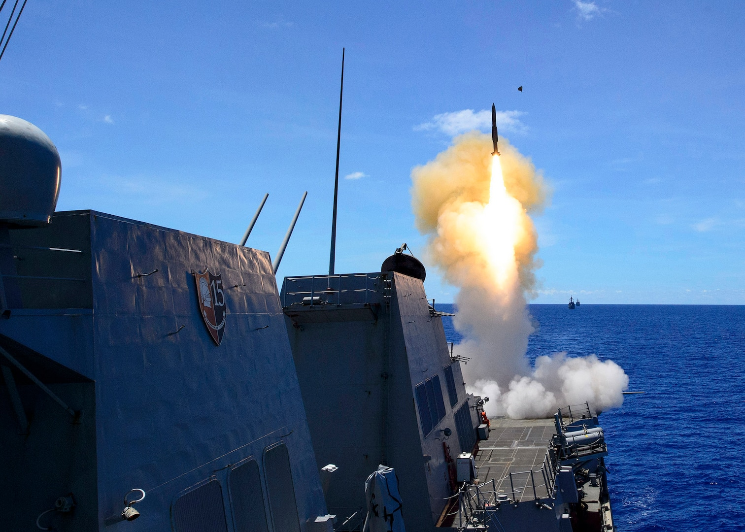 Antietam Leads Surface to Air Missile Exercise in MultiSail 18