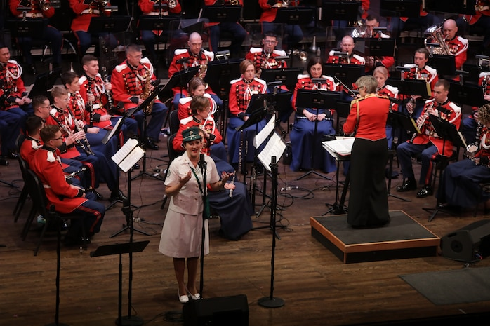 On March 11, 2018, the Marine Band presented a tribute concert for the 75th Anniversary of the Marine Corps Women's Reserve Band. The concert was held at the Rachel M. Schlesinger Arts Center and Concert Hall in Alexandria, Va. (U.S. Marine Corps photo by Master Sgt. Amanda Simmons/released)