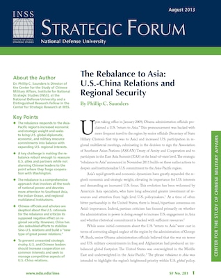 The Rebalance to Asia: U.S.-China Relations and Regional Security