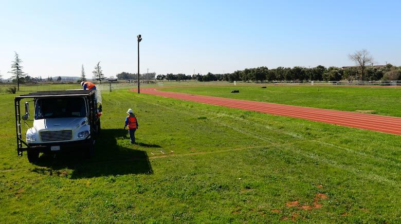Contractors began renovations on the new multipurpose field began