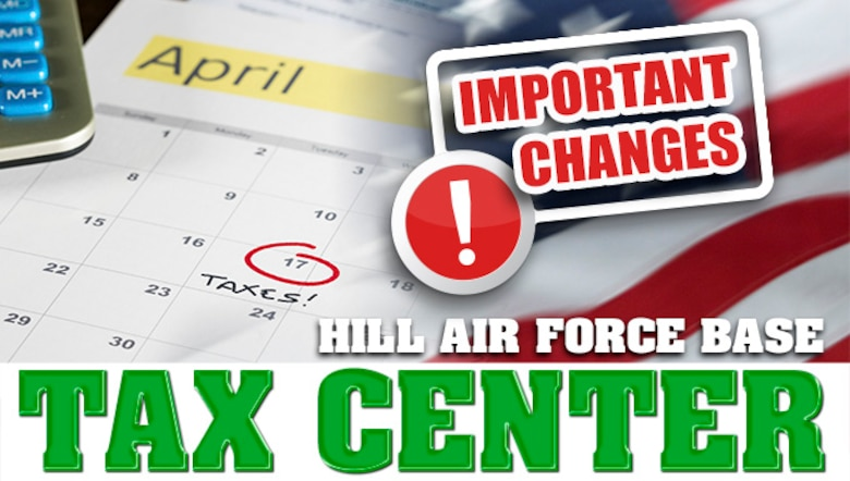 Tax Center important changes (U.S. Air Force graphic by David Perry)