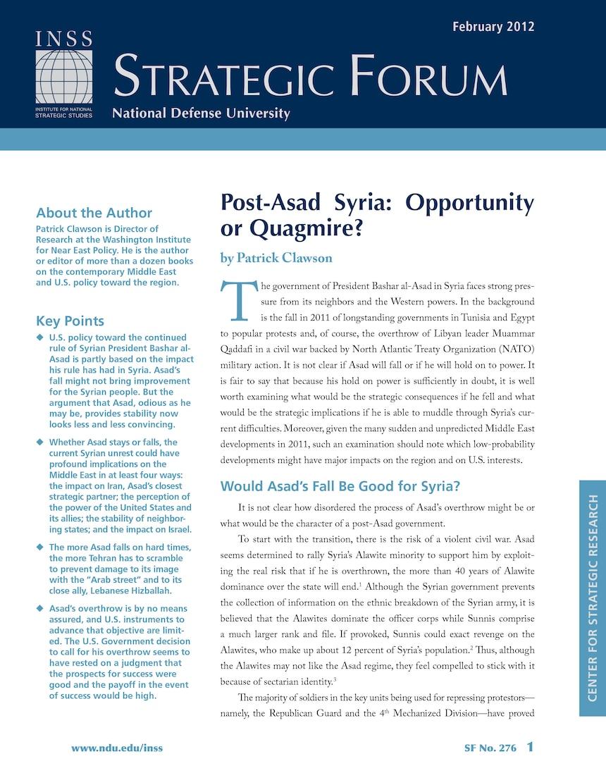 Post-Asad Syria: Opportunity or Quagmire?