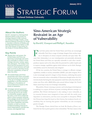 Sino-American Strategic Restraint in an Age of Vulnerability