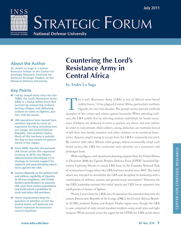Countering the Lord's Resistance Army in Central Africa
