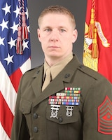 Sergeant Major Aaron M. Campbell, 2d Tank Battalion sergeant major