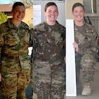 Tech. Sgt. Samantha Conner, a healthcare management technician with the 911th Aeromedical Staging Squadron at Pittsburgh Air Reserve Station in Pennsylvania, loses 46 pounds while deployed in 2017. Conner experienced a few life setbacks in her civilian life and gained 50 pounds in a year at age 24, but then changed her mindset about fitness as a lifestyle five years later, just before her deployment. As a Reserve Citizen Airman, Conner works in healthcare management for the Federal Bureau of Prisons in Pittsburgh, Pennsylvania, and in her spare time she runs, lifts weights and does yoga. (Courtesy photo)