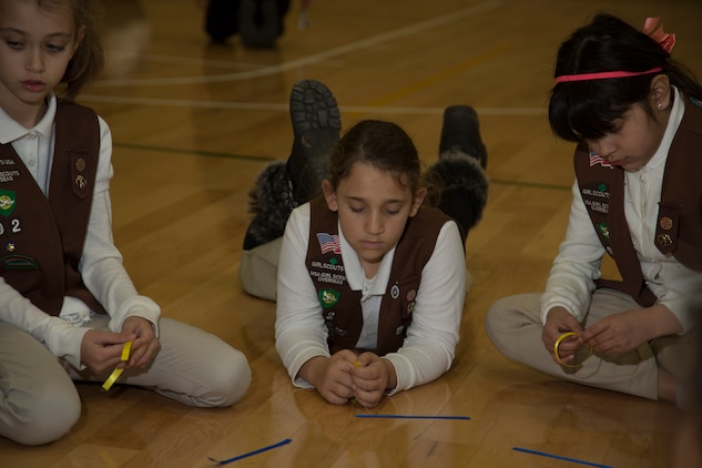 International friendships formed through celebrating Girl Scouts' birthday