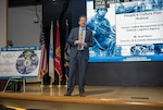 Brad Bunn speaks to the workforce at DLA Land and Maritime
