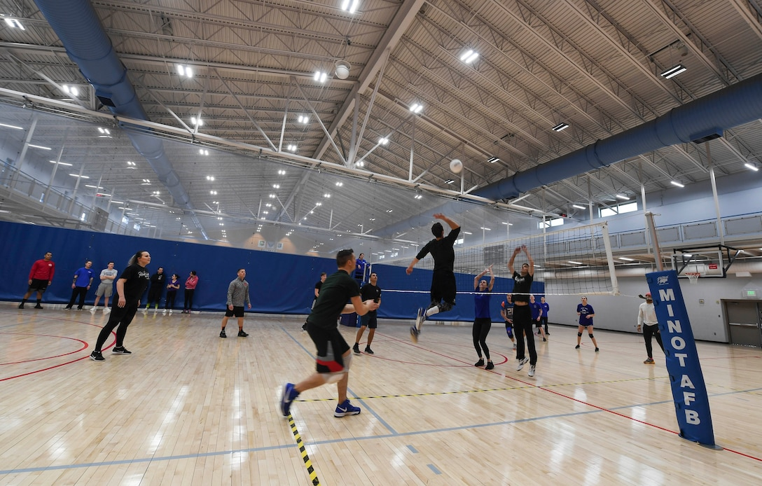 Team Minot Airmen competed in the fourth annual Winter Games at the McAdoo Fitness Center at Minot Air Force Base, N.D. The Winter Games consisted of several events, including volleyball, soccer, a bench press competition and a three-point shootout contest.